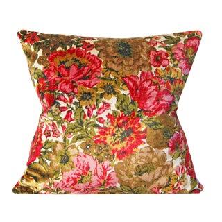 Floral Velvet Pillow Cover For Sale