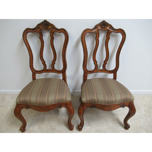 Ethan Allen Dining Room Sets For Sale: Ethan Allen Tuscany French Carved Dining Room Chairs- A
