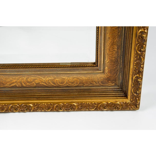 Vintage Gilded Wood Framed Hanging Wall Mirror For Sale In New York - Image 6 of 10