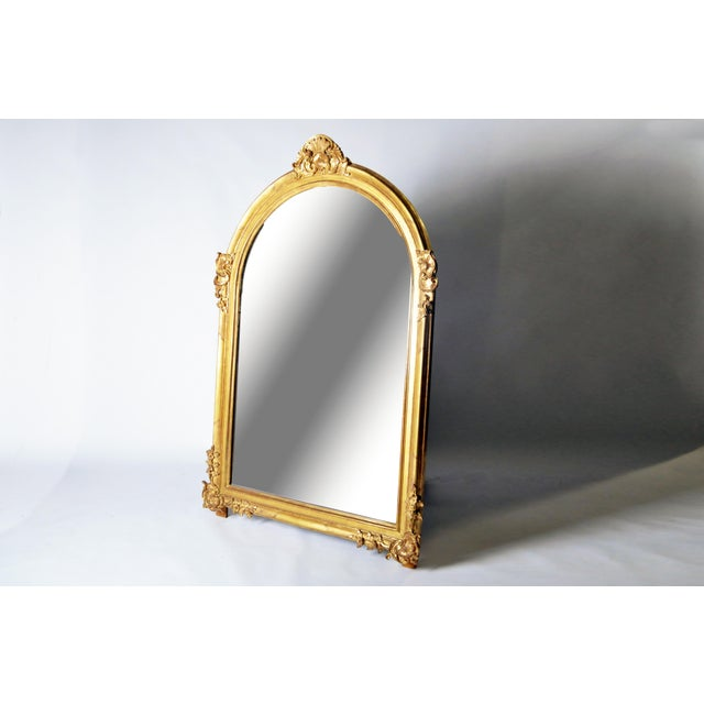 Louis XV Mid 19th Century Louis XV Style Gold Mirror For Sale - Image 3 of 7