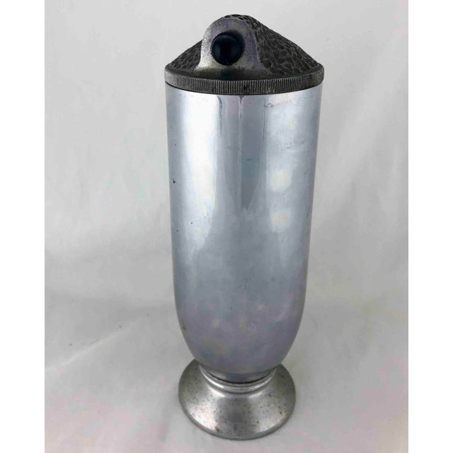 Industrial 1930's Rare Aluminum Tall Cocktail Shaker For Sale - Image 3 of 13