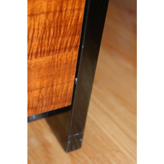 Henredon Black Lacquer & Koa Wood Dressers - A Pair - Image 6 of 11