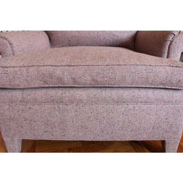 2010s Custom Made Upholstered Lounge Chairs - A Pair For Sale - Image 5 of 8