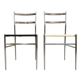 1960s Italian Gio Ponti Superleggera Style Chairs - a Pair For Sale