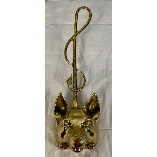 1980s English Brass Fox Doorstop For Sale In Palm Springs - Image 6 of 11