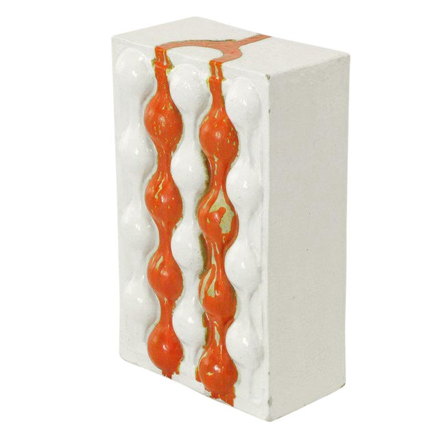 William A. Hoffman (1920-2011) Bi-Color Crate Ceramic Sculpture For Sale