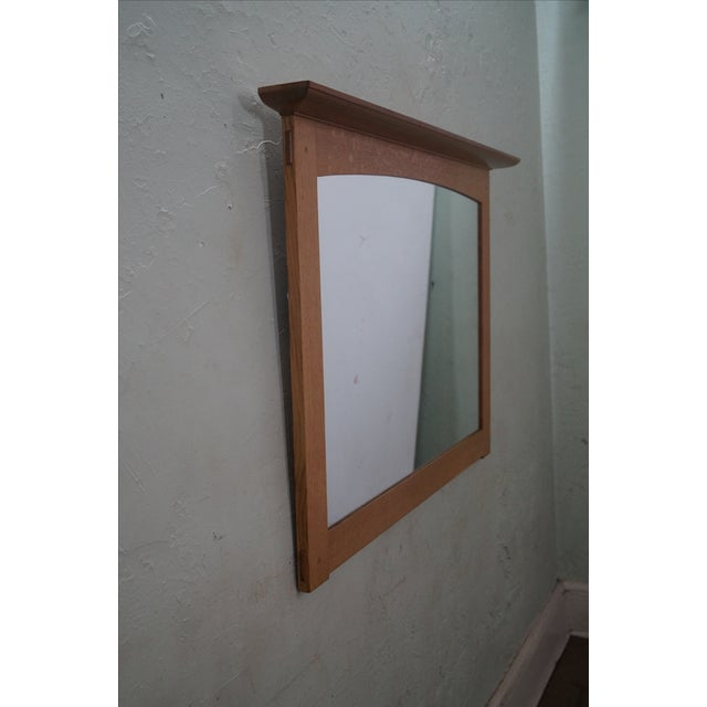 Stickley Mission Oak Natural Finish Wall Mirror - Image 3 of 10