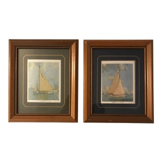Small Framed Sailboat Prints - a Pair For Sale
