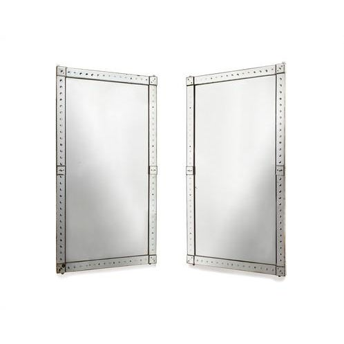Original Pair of Large Venetian Mirrors With Mirrored Borders For Sale - Image 6 of 6
