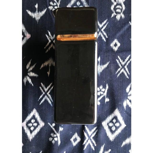 Hollywood Regency Vintage Greek Key Ceramic Wall Pocket Vase For Sale - Image 3 of 5