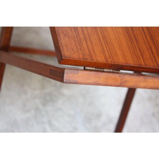 Nest of Three Teak Folding Tables by Illum Wikkelsø - Image 9 of 13