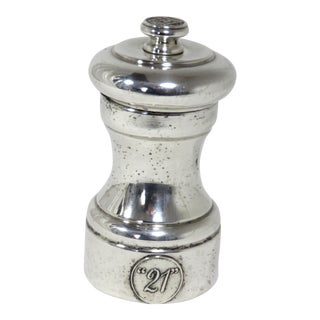 Club 21 New York Restaurant Sterling Silver Pepper Mill For Sale