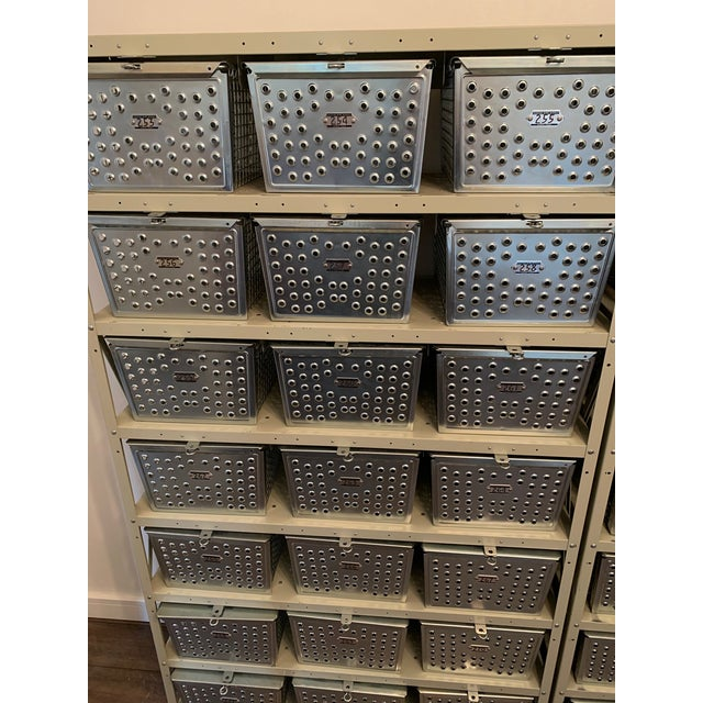Vintage Industrial Swim and Gym Basket Lockers With Shelving For Sale - Image 10 of 11