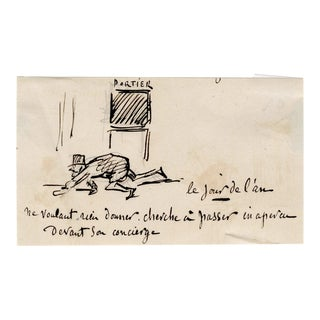 19th Century French Satirical Caricature by Charles Amedee De Noe (Cham) For Sale