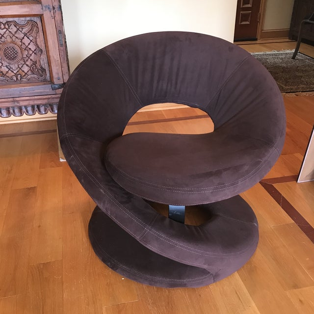 1960s Mid Century Hollywood Regency Swirl Chair For Sale - Image 5 of 5