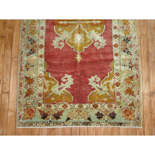 Antique Turkish Melas Rug, 3' x 5'1'' For Sale - Image 4 of 6