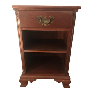 1950s Traditional Mahogany Solid Wood Nightstand For Sale