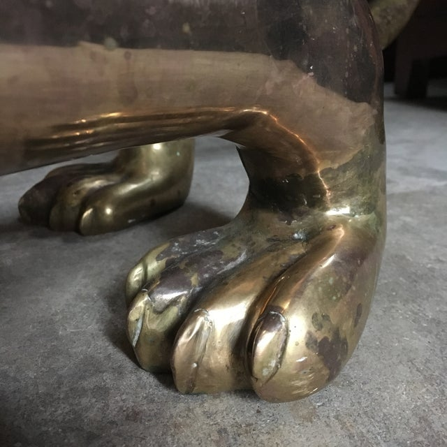 Life-Sized Japanese Panther Sculpture in Brass For Sale - Image 11 of 12