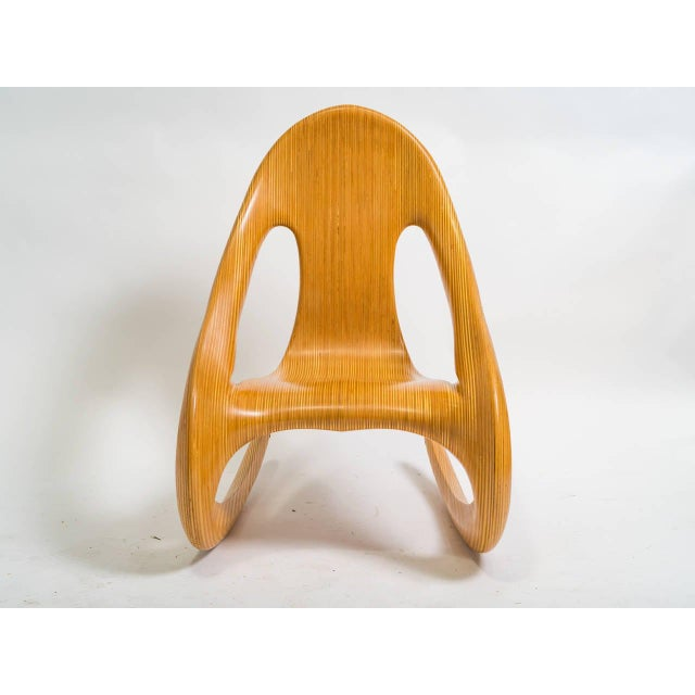 A Wonderful Carl Gromell Rocking Chair. It is made with Laminated Birch and was made in 1984.