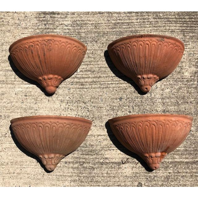 Mid 20th Century Terra Cotta Hanging Planters - Set of 4 For Sale - Image 5 of 5