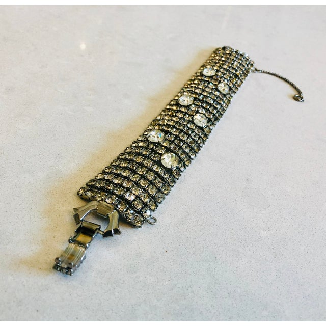 Mid-Century Modern Stunning Weiss Crystal Encrusted Bracelet For Sale - Image 3 of 12