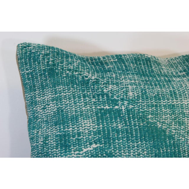 Turquoise Overdyed Pillow Covers - A Pair - Image 3 of 6
