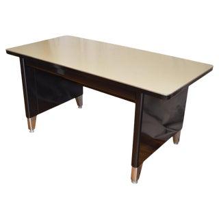 Industrial Steel Desk, Invincible Brand, Midcentury, Black Frame For Sale