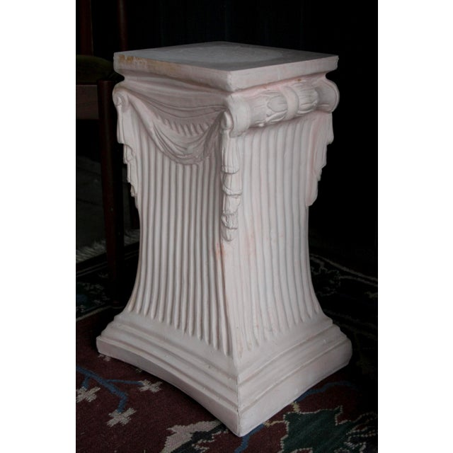 Pink Plaster Pedestal / Plant Stand / Side Table For Sale - Image 11 of 11