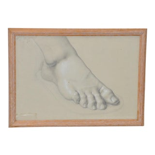 Vintage Study of a Right Foot C.1960s For Sale