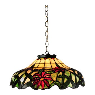 Antique Stained Glass Light Pendant