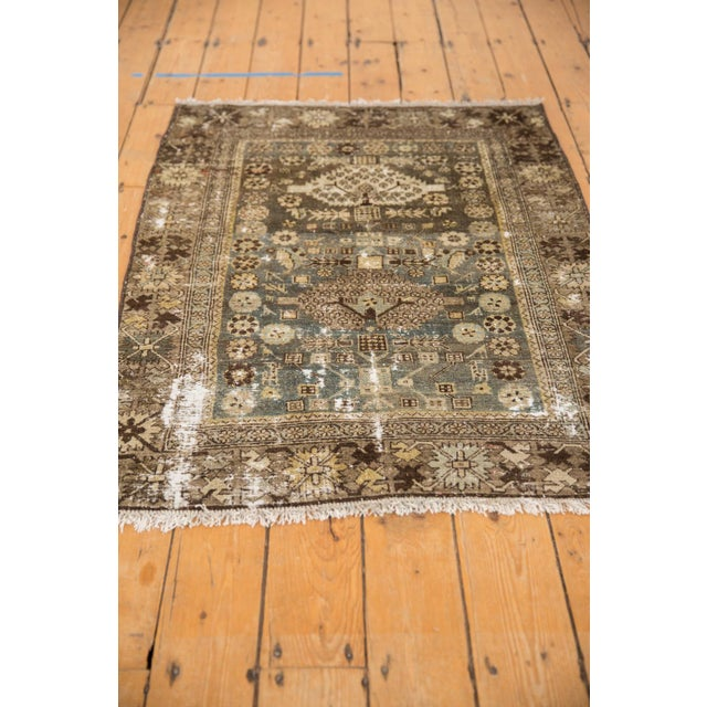 """1930s Vintage Distressed Malayer Rug - 3'3"""" X 4'7"""" For Sale - Image 5 of 11"""
