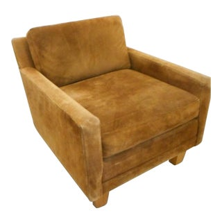 Milo Baughman Directional Suede Chair 1 of a Pair