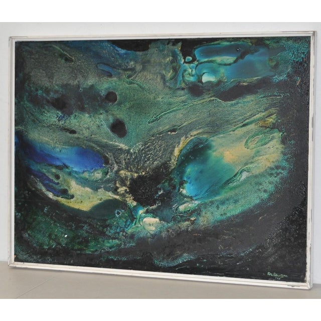 Mid-Century Modern Abstract Painting by Rita Robinson C.1961 For Sale - Image 11 of 11