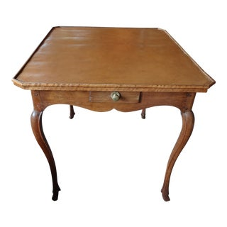 Louis XV Butterscotch Leather Game Table
