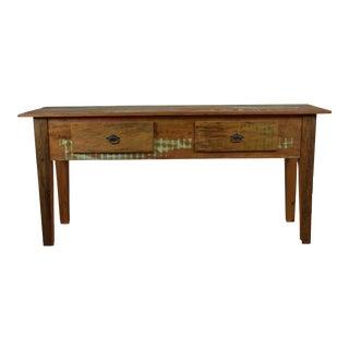 Rustic Peroba Rosa Wood Console Table