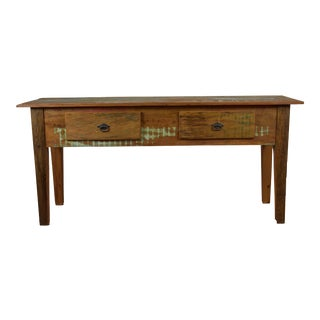 Rustic Peroba Rosa Wood Massive Console Table