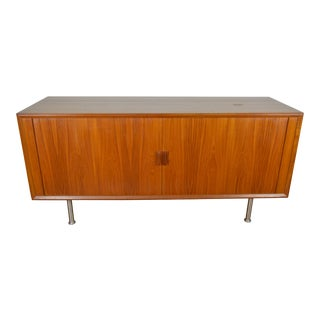 Faarup Danish Mid Century Modern Teak Stereo Console / Compact Credenza For Sale