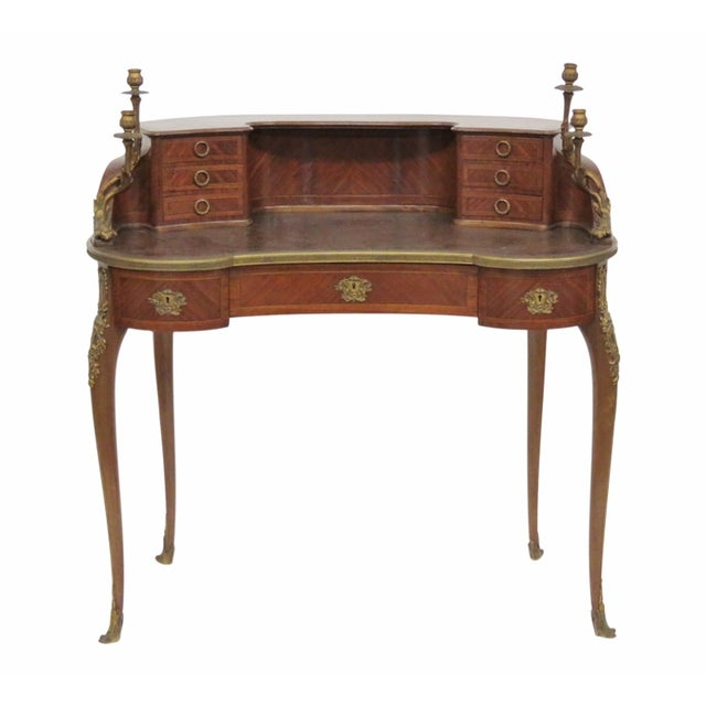 19th C. French Krieger Bronze Mounted Desk - Image 1 of 6