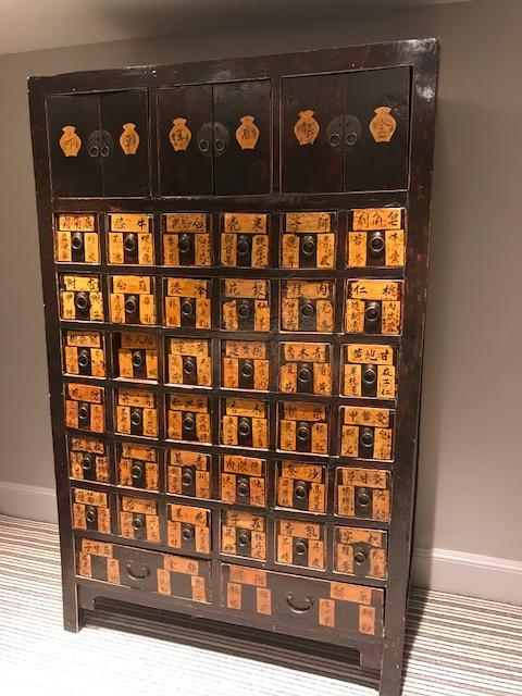Asian apothecary cabinet