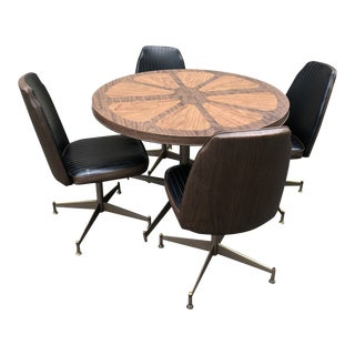 1960s Vintage Mid-Century Modern Brody Flower Petal Table & Chairs - Set of 5 For Sale
