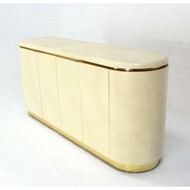 Mid-Century Modern, Drum Shape Long Credenza Server in the Springer Style - Image 5 of 7