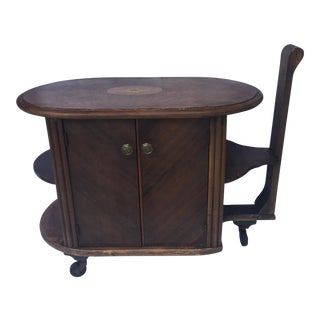 Antique Playing Table Bar Cart For Sale