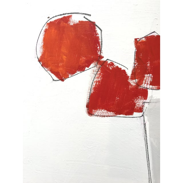 Blooms in Red Contemporary Painting For Sale - Image 4 of 5