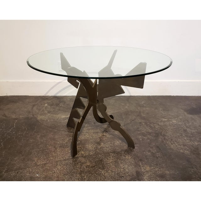 Brutalist Brutalist Memphis Era Dining Table by Pucci De Rossi For Sale - Image 3 of 7