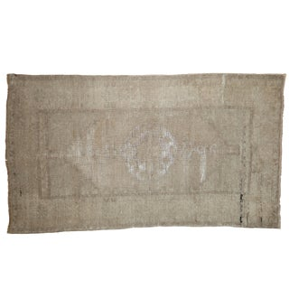 """Distressed Oushak Rug - 3'5"""" X 6' For Sale"""