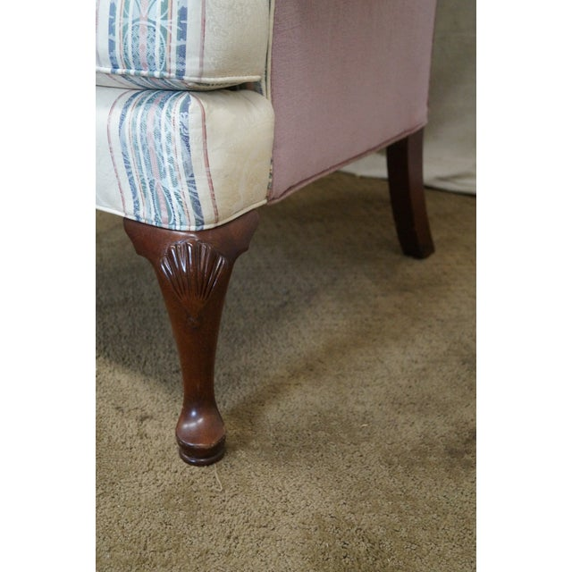 Highland House Hickory Queen Anne Wing Chair - Image 6 of 10
