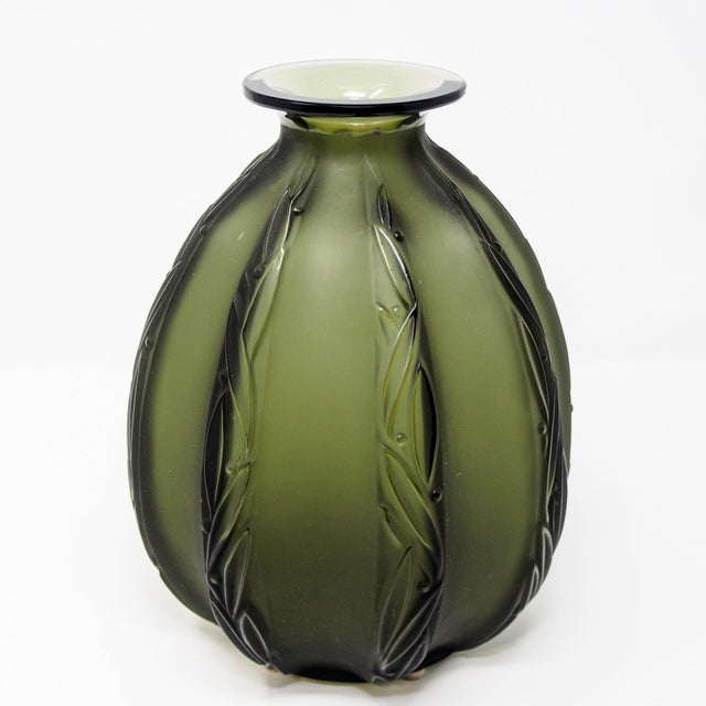 Mid-Century Sabino Glass Vase For Sale - Image 10 of 10