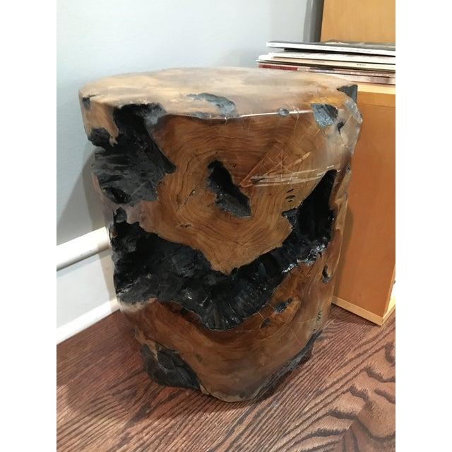 Boho Chic Natural Teak Root Wood Side Table For Sale In Nashville - Image 6 of 8