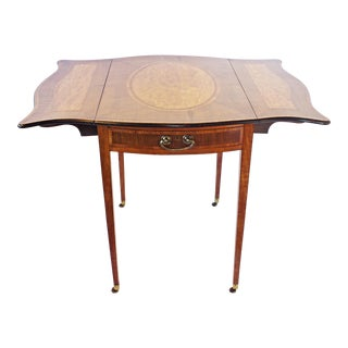 George III Crossbanded Sycamore and Satinwood Pembroke Table For Sale