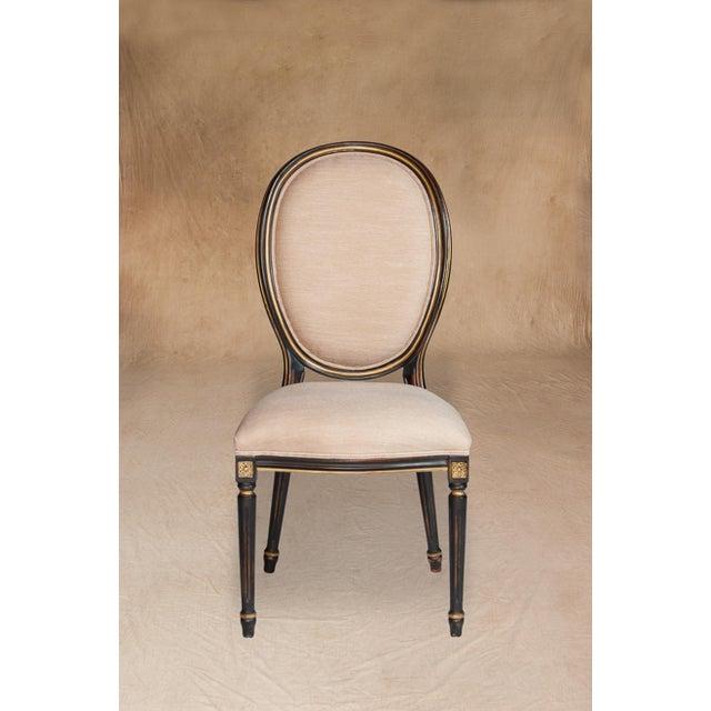Vintage Sarreid LTD Louis XVI Style Side Chair - Image 4 of 5